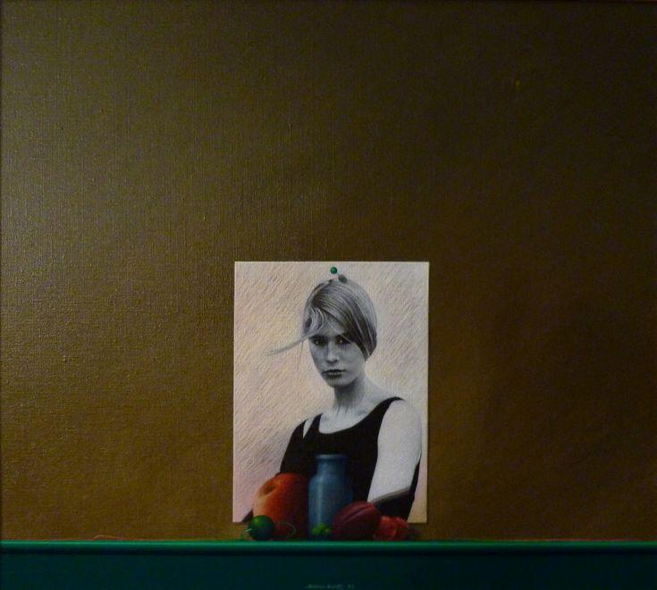 Natureza morta com frutos/ acrílico sobre tela/ 60x70 cm/ 1992