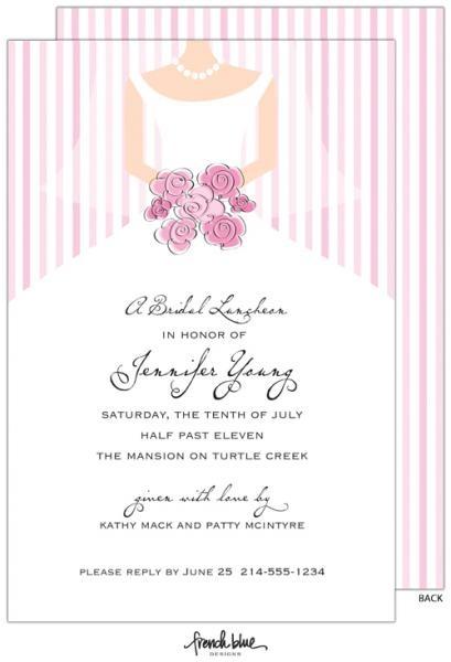 Pretty Bridal Luncheon Invitations
