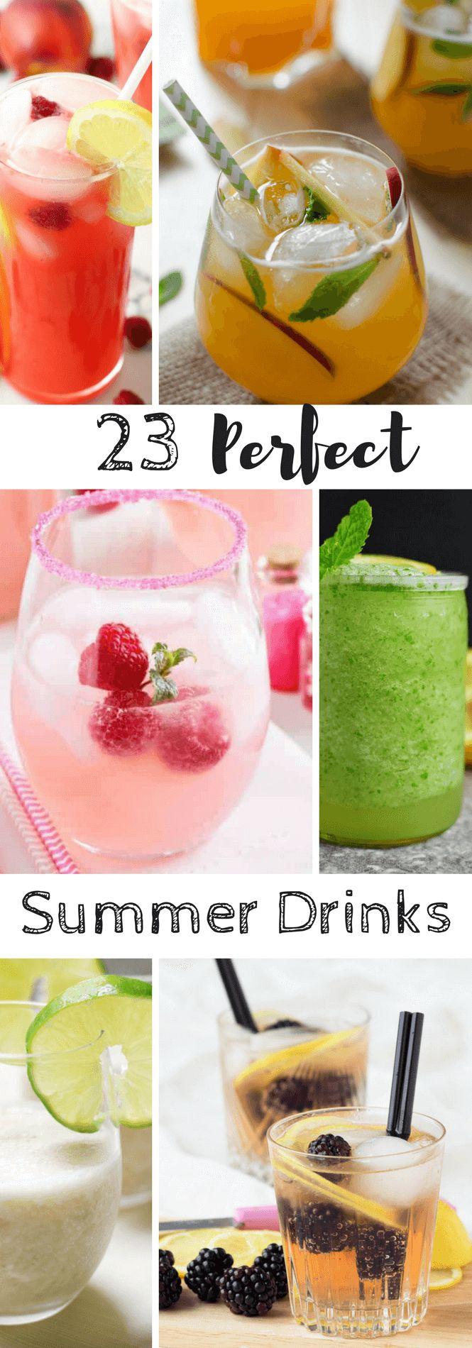 Summer drinks non-alcoholic
