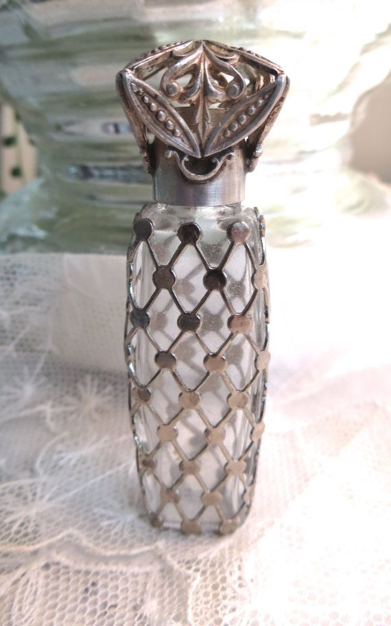 Antique Sterling Overlay Miniature Perfume by VintageVogueTreasure, $65.00