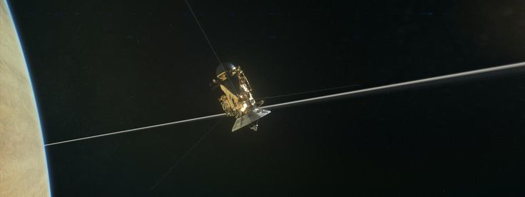 La sonde Cassini autour de Saturne, le 15 septembre 2017. | ATLAS PHOTO ARCHIVE/JPL/NASA
