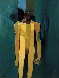 Keith Vaughan. Standing Figure - Kouros. 1960.