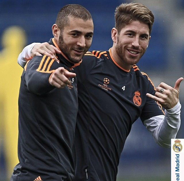 Karim Benzema and Sergio Ramos  Real Madrid