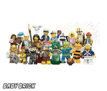Фотография конструктора Lego 71001 КОМПЛЕКТ из 16 минифигур 10 серии