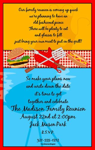9 best Summer Fun Party Invitations images on Pinterest Summer - family gathering invitation wording
