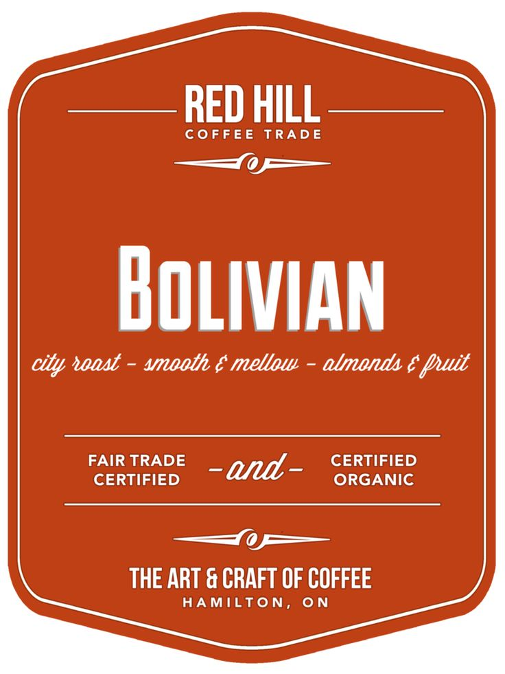 Bolivian Coffee, 1 lb / 16oz; Available for purchase online or in-store at E23 on Concession St. or at the Hamilton Farmer's Market