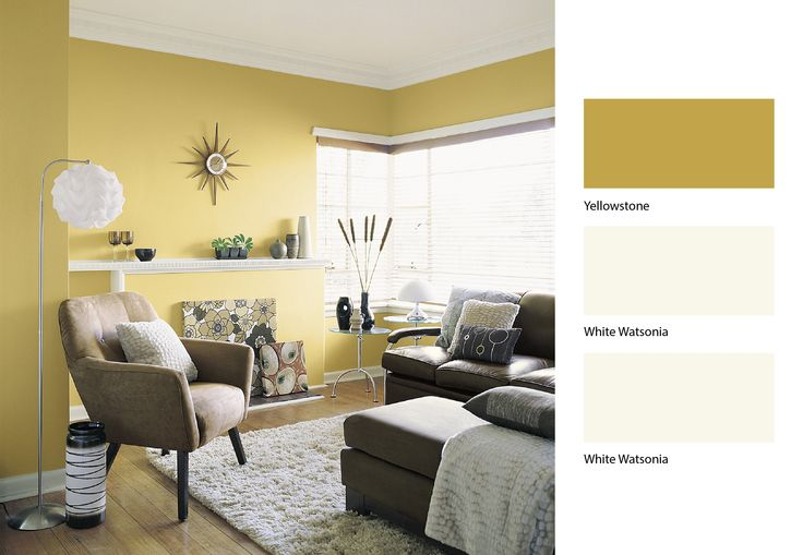 Brown And Yellow Living Room Pinterest