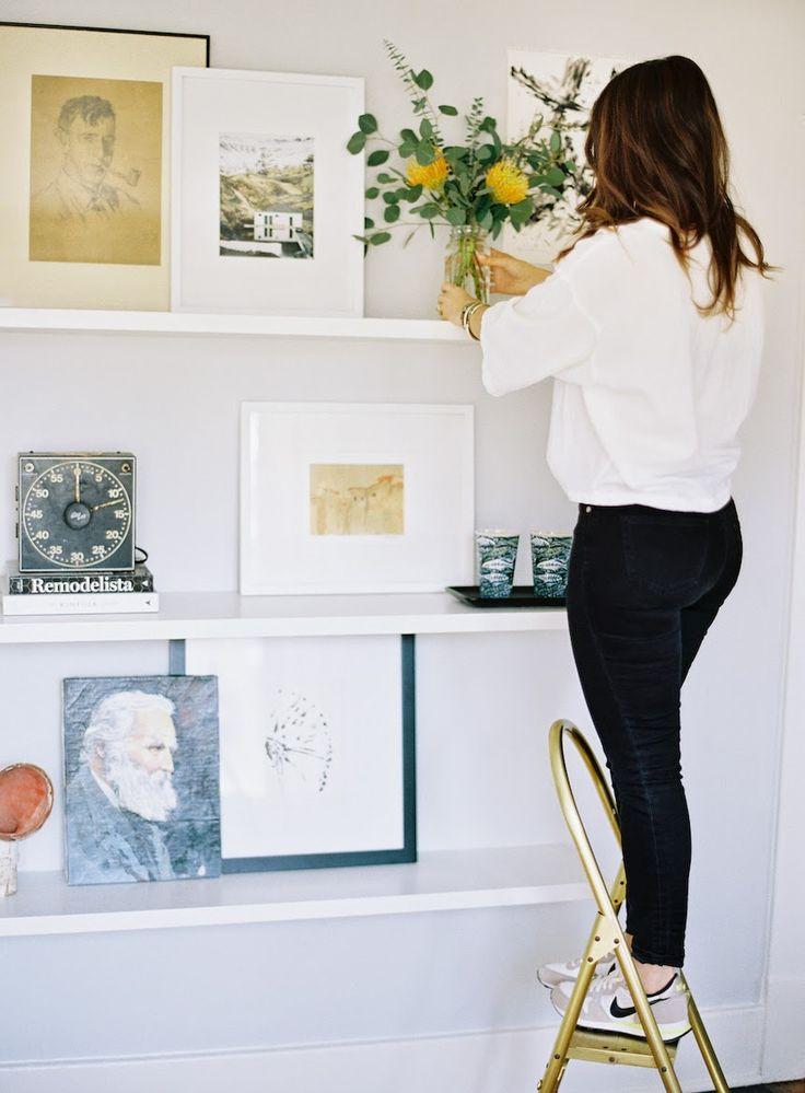 Caroline Brewer Styling: DIY Floating Shelves + How to style shelves