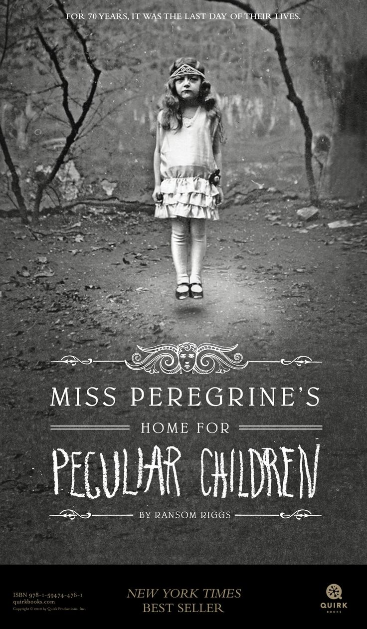 Miss Peregrine's Home for Peculiar Children by Ransom Riggs tabloid-sized poster  #books #education
