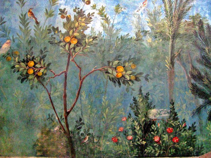 Fresco Painted Garden Villa Of Livia Palazzo Italy