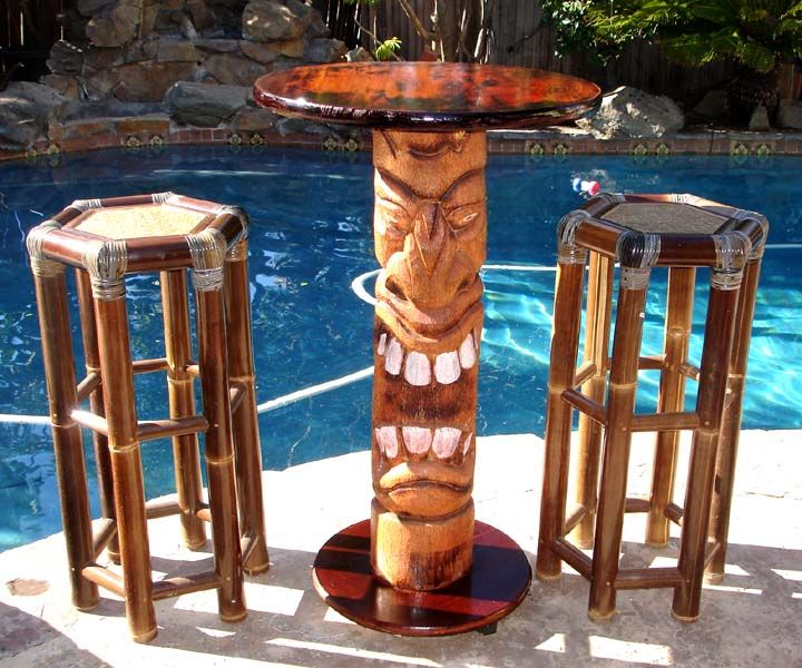 How to Build Your Own #Tiki Bar #Table and #Stools