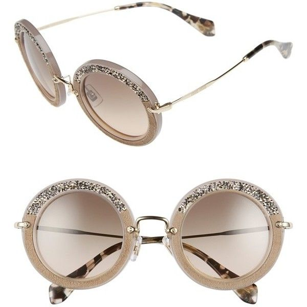 Miu Miu 60mm Rimless Retro Sunglasses