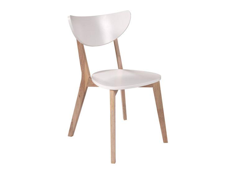 FAGERSTRÖM Stol Natur/Vit - FAGERSTRÖM stol med sits och rygg i vitlackad MDF och ben i trä med whitewash-effekt.