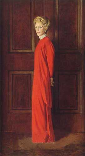 Official White House portrait of Nancy Reagan
