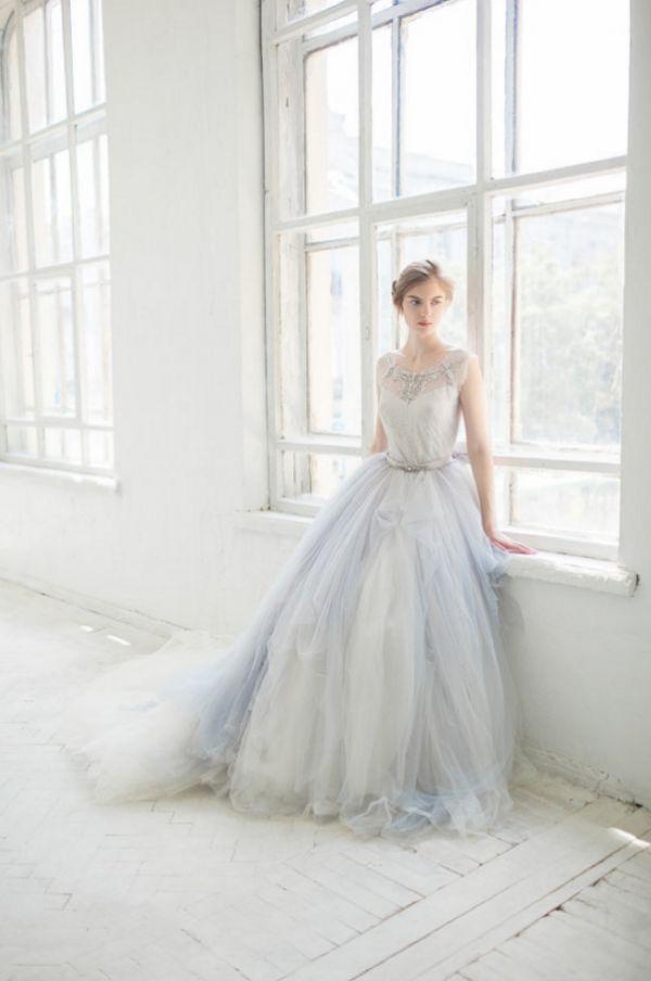 Hint of Blue Wedding Gown | Masha Golub Photography on @perfectpalette via @aislesociety