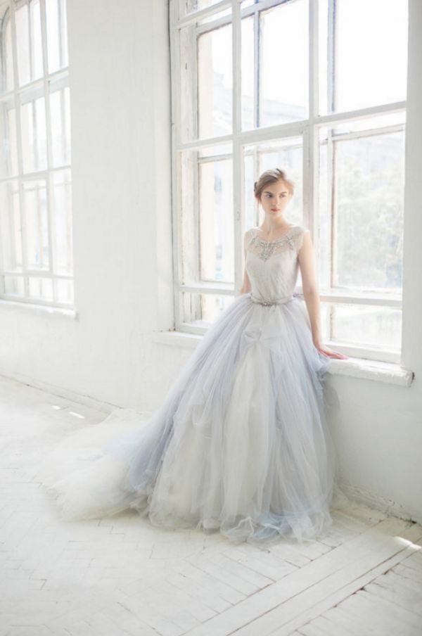 Hint of Blue Wedding Gown | Masha Golub Photography on @perfectpalette via @aislesociety