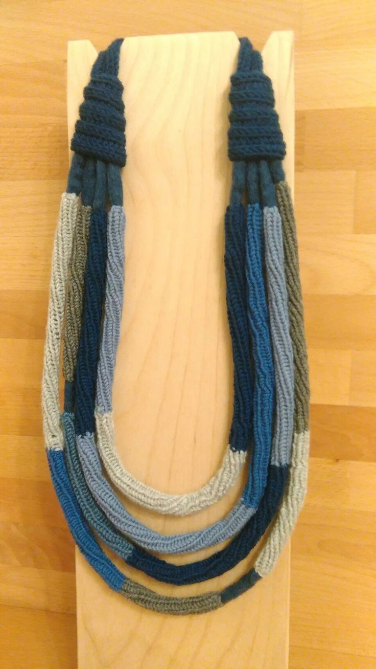wool and felt necklace,  handmade