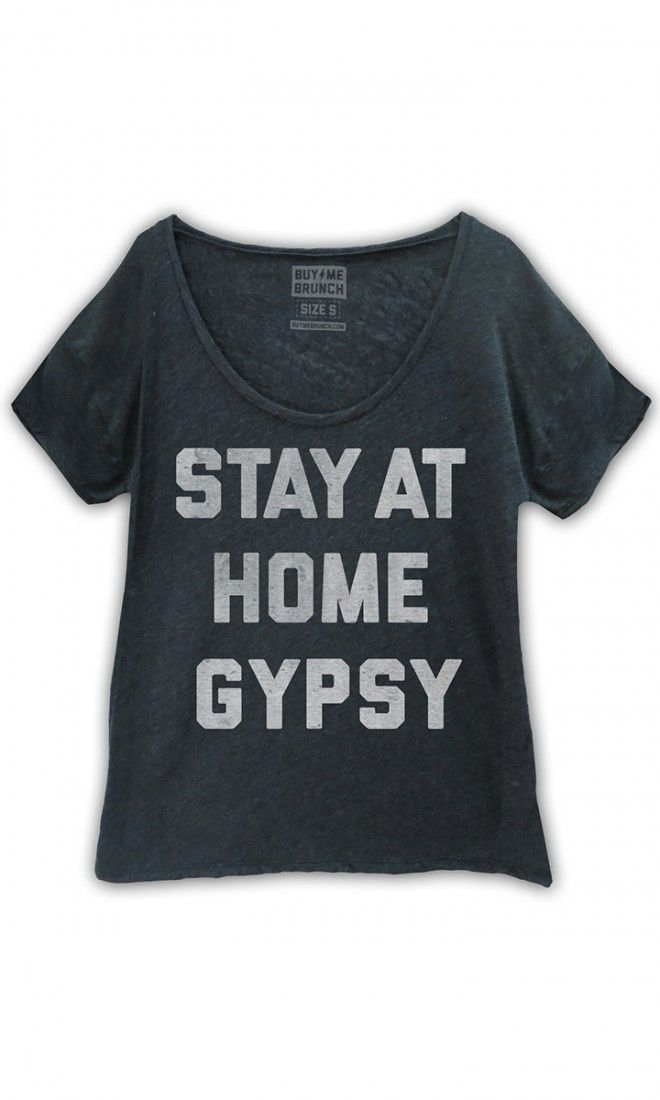 Stay at home gypsy. Oversized scoop neck t-shirt in our new premium triblend…
