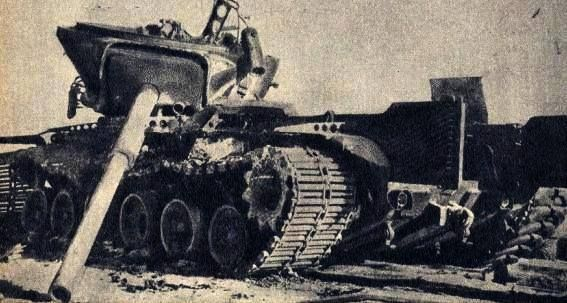 Israeli M-60 with it's turret separated due to the explosion of it's ammunition inside the ammo bay during the Battle of the Chinese Farm...Yom Kippur War.