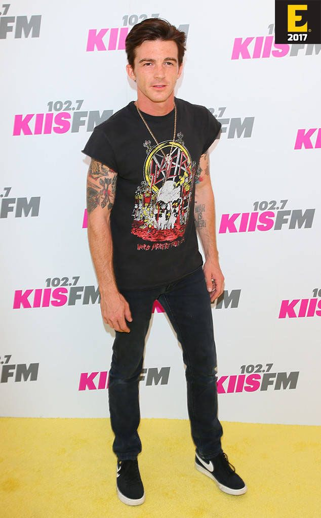 Drake Bell shows off his edgy side in a vintage T-Shirt and many tattoos