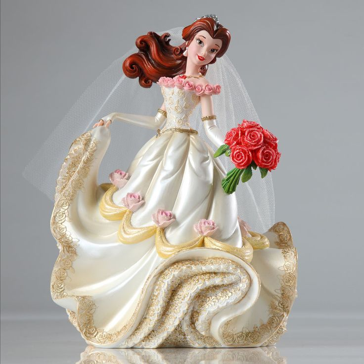 Beauty and the Beast - Belle Bridal Couture de Force - World-Wide-Art.com - #disney #disneyshowcase #figurines #beautyandthebeast #wedding