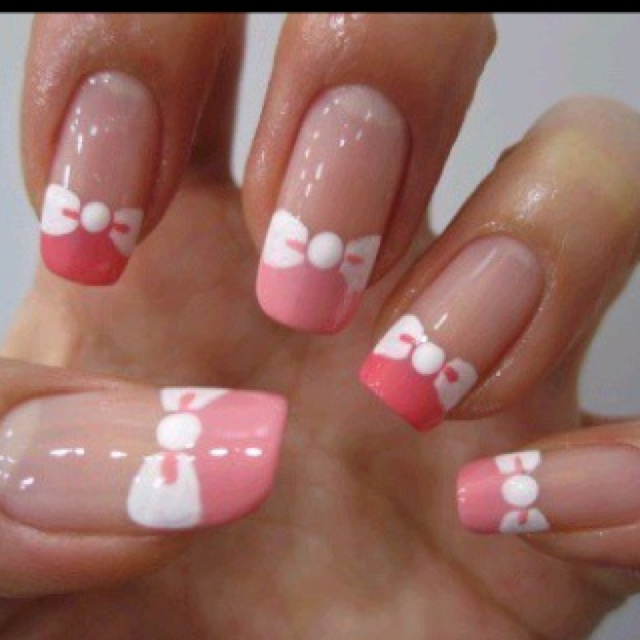 Hello Kitty nails | Hair and Makeup | Pinterest | Hello ...