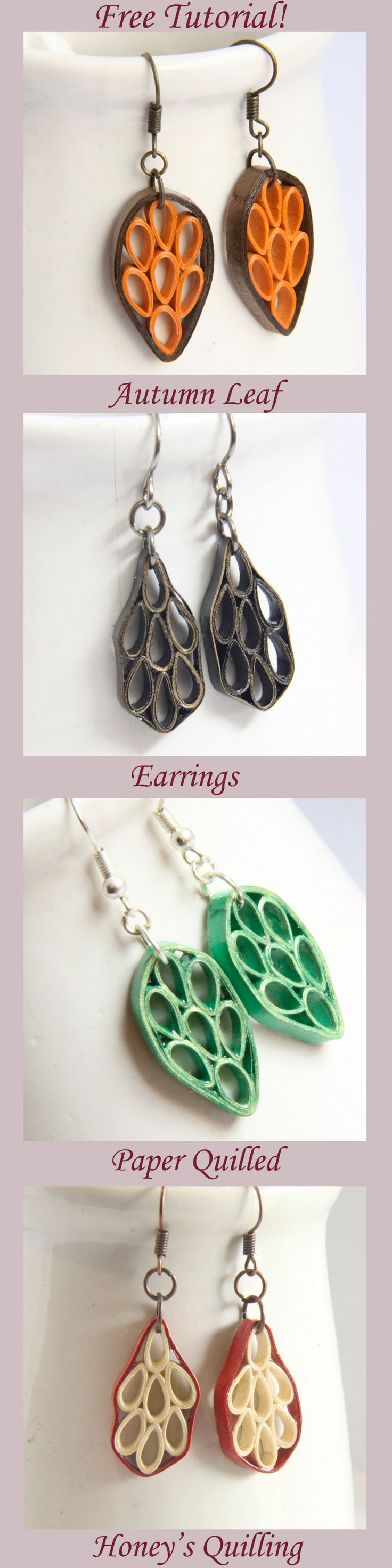 Learn how to make these fun fall season earrings with just for Learn to draw jewelry