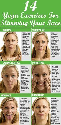 Ejercicios faciales simples pero efectivos para un rostro delgado, esculpido y de aspecto más joven   -   Simple yet effective facial exercises for a lean, sculpted and younger looking face.