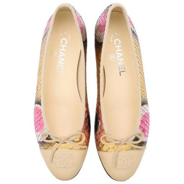 Preowned Chanel Flat Ballerine Python / Brand New (6.730 HRK) ❤ liked on Polyvore featuring shoes, flats, beige, ballet shoes flats, multi color flats, flat shoes, ballet flat shoes and ballerina pumps