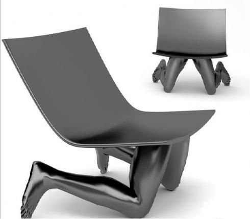 Human Chair By Samal Design. Fusing A Futuristic And Retro Vision Of Design.