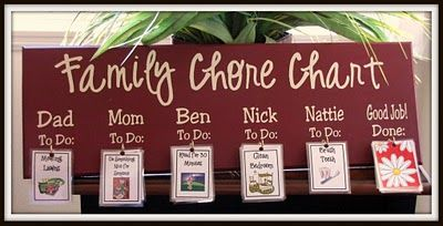 Family chore chart: Ideas, Gift, Organization, Chorechart, Family Chore Charts, Super Saturday, Kids, Families, Crafts