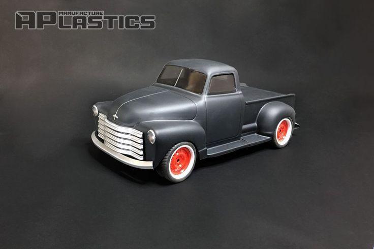 NEW APlastics RC Drift body shell 1:10 Chevy Chevrolet Pickup truck 1951 style  #APlastics