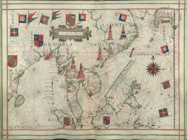 """Il. 171 - 0034 Fernão Vaz Dourado (1520-1580) -  """"Atlas"""" / [Atribuído a Fernão Vaz Dourado]. [Cerca de 1576].   BNP IL. 171"""