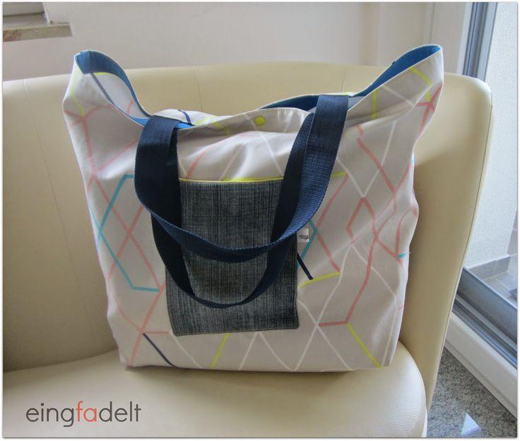 eingfadelt: Mega-Strandtasche
