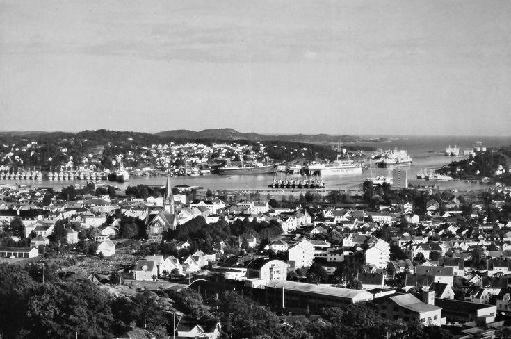 Havna i Sandefjord på 1950-tallet