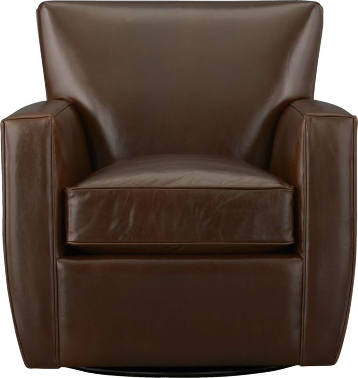 Streeter Leather 360 Swivel Chair Crate