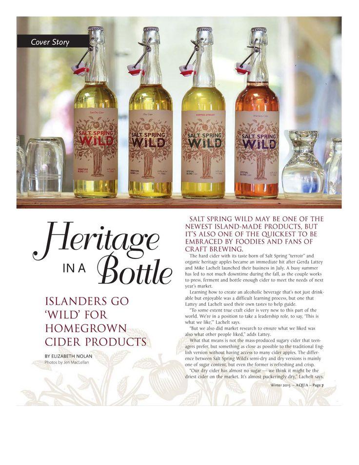 Salt Spring Wild Cider featured in Winter edition of Aqua Magazine