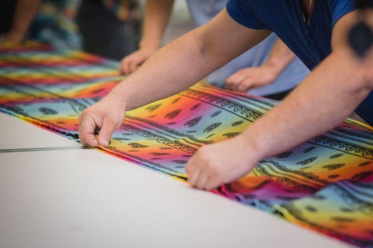 The heart of the FabricArt are designers who create an unbelievable patterns for LennyLamb ... * * * Sercem FabricArt są projektanci którzy tworzą niesamowite wzory dla LennyLamb ... #fabricart #artofweaving #singleorigin #diy #cottonfabric #wovenrainbow #teamrainbow #rainbow #diy #singleorigin