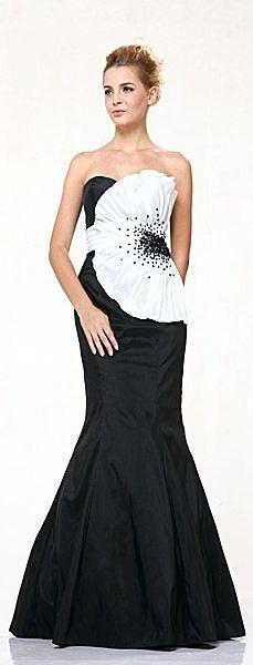 Robe longue noir et blanc pas cher