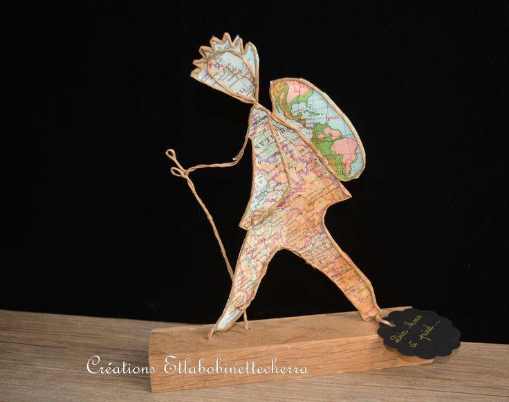cadeau pour marcheur solitaire : figurine en ficelle : Accessoires de maison par etlabobinettecherra