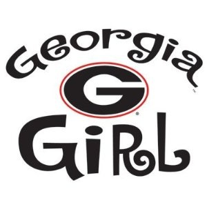 Georgia Bulldogs GEORGIA GIRL Clear Vinyl Decal Car Truck Sticker UGA