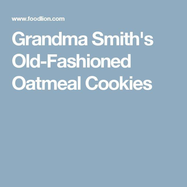 Grandma Smith's Old-Fashioned Oatmeal Cookies