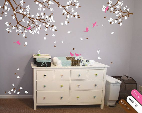 Branch With Birds Wall Decal Vinyl Branches By NatureHomeArts. Baby Room ...