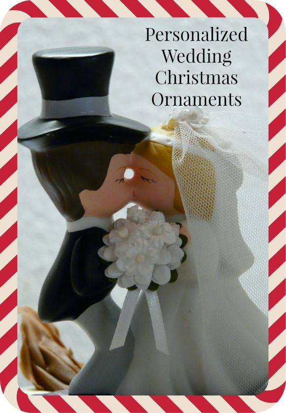 Personalized #Wedding #Christmas #Ornaments  Add to the keepsakes of your special day with personalized wedding Christmas ornaments. Wedding Christmas ornaments also make fun package toppers and gifts.