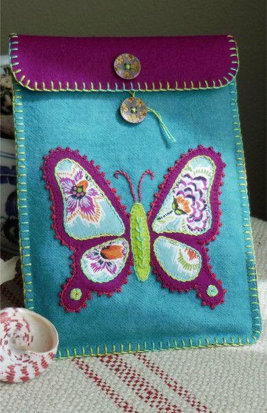 Bee & Butterfly -- wool tech cover pattern by Black Mountain Needleworks
