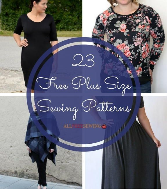 23 Free Plus Size Sewing Patterns | Show off your stunning curves with these figure-flattering sewing patterns!