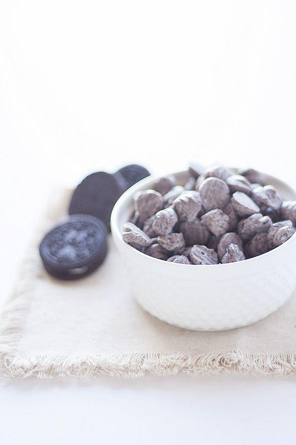 cookies and cream frozen yogurt dots - Heather's French Press