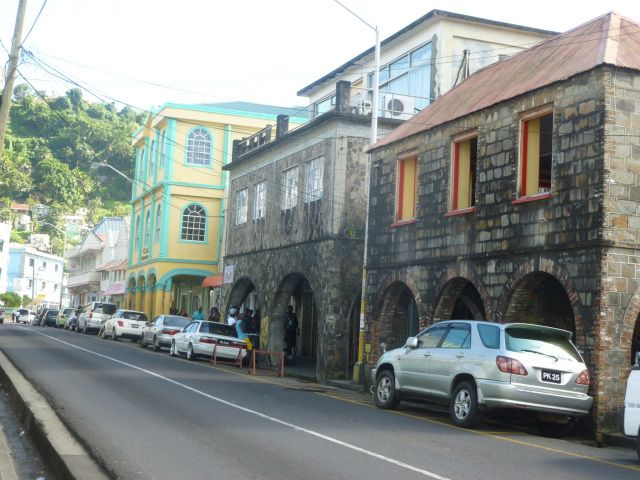Strolling around the capital, Kingstown.