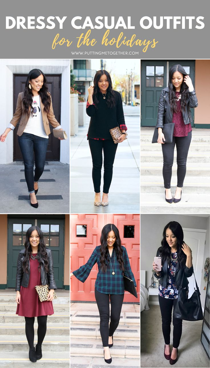 Dressy Casual Holiday Outfit Ideas