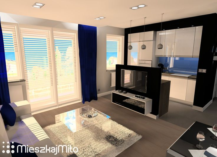 Projekty, Salon z aneksem kuchennym - salon z aneksem kuchennym